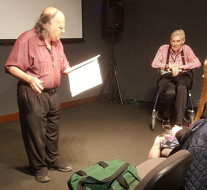 Poet and broadcaster Jack Foley and Al Hinkle at BVFF 2017