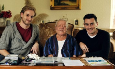 Producer Dominic Mayer, actor Kenny Baker and director Nic Saunders